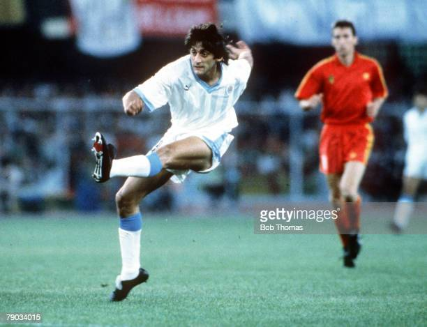 World Cup Finals Verona Italy 17th June Belgium 3 v Uruguay 1 Uruguay's Enzo Francescoli