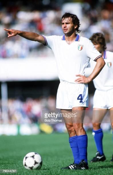 World Cup Finals Vigo Spain 23rd June 1982 Italy 1 v Cameroon 1 Antonio Cabrini Italy