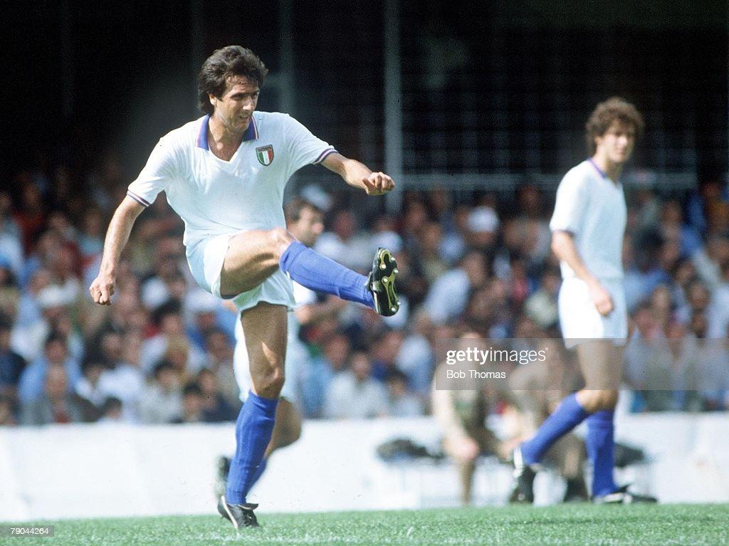 1982 World Cup Finals. Vigo, Spain. 23rd June, 1982 Italy 1 v Cameroon 1. Gaetano Scirea, Italy. : News Photo
