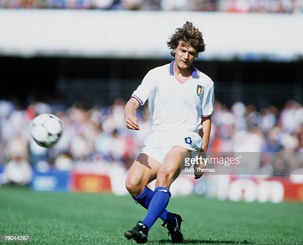 World Cup Finals Vigo Spain 23rd June 1982 Italy 1 v Cameroon 1 Giancarlo Antognoni Italy