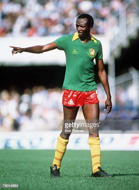 World Cup Finals Vigo Spain 23rd June 1982 Italy 1 v Cameroon 1 Cameroon's Ibrahim Aoudol