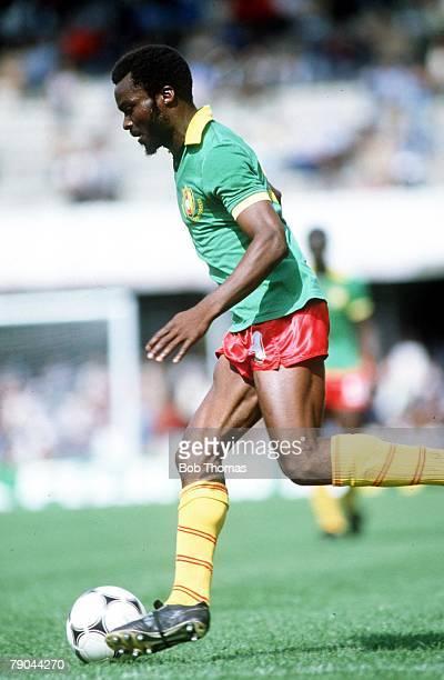 World Cup Finals Vigo Spain 23rd June 1982 Italy 1 v Cameroon 1 Roger Milla Cameroon