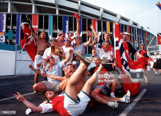 World Cup Finals Washington USA 19th June Norway 1 v Mexico 0 Norwegian fans in happy mood