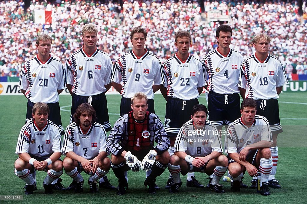 1994 World Cup Finals. Washington, USA 19th June, 1994. Norway 1 v Mexico 0. Norway Team group : News Photo