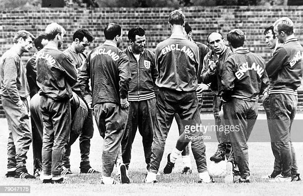 World Cup Finals Wembley England 11th July 1966 England 0 v Uruguay 0 The England squad get a last minute training session before they face Uruguay...