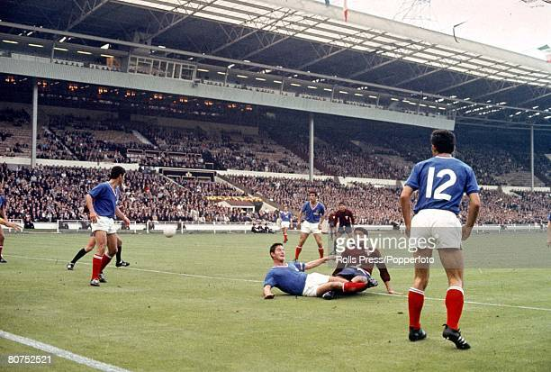 World Cup Finals Wembley England 13th July France 1 v Mexico 1 French defenders clear the ball from their goalmouth as Mexico attack during their...