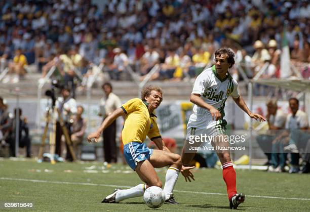 World Cup First Round Brazil vs Algeria Alemao and Rabah Madjer