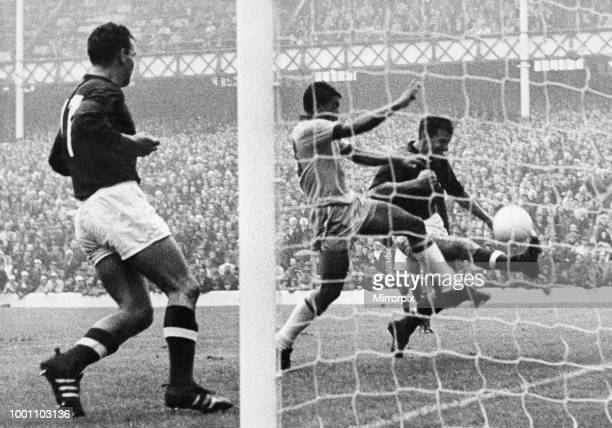 World Cup First Round Group Three match at Goodison Park Liverpool Hungary 3 v Brazil 1 An escape for Hungary as Alcindo of Brazil is stopped almost...