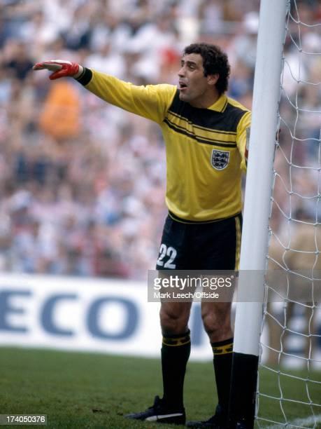 World Cup Football 1982 England v France Peter Shilton organises his defensive wall
