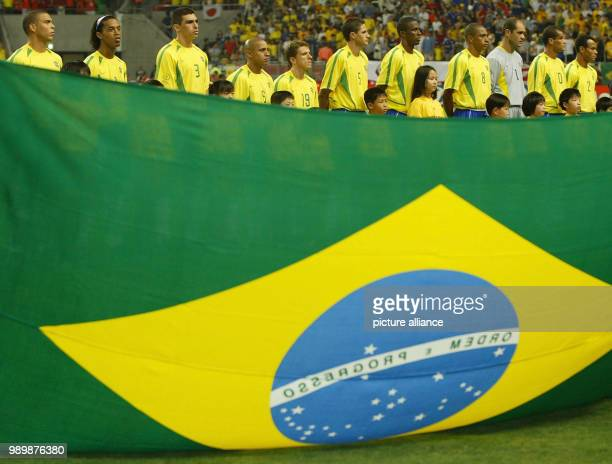 World Cup held in South Korea and Japan Brazil vs Belgium last sixteen team Brazil feature
