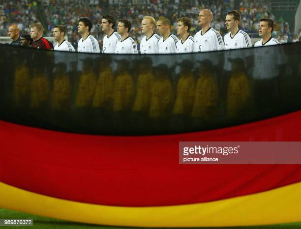World Cup held in South Korea and Japan Cameroon vs Germany Group E from left Kahn Frings Ballack Metzelder Linke Ramelow Ziege Klose Jancker Hamann...
