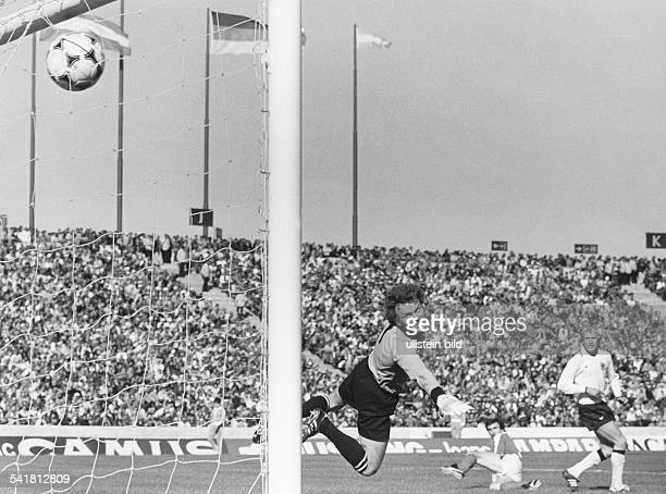 1978 FIFA World Cup in Argentina 2nd round Group A in Cordoba Austria 3 2 Germany Scene of the match Hans Krankl scoring the 2 2 equalizer for...