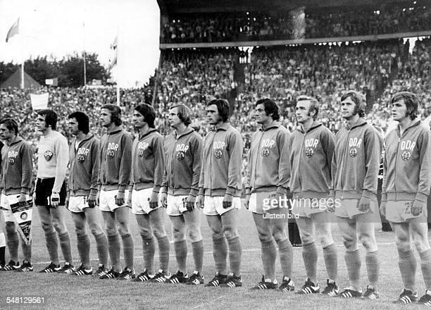 1974 FIFA World Cup in Germany First round Group 1 in Hamburg West Germany 0 1 East Germany lineup of the East German team Granek Croy Sparwasser...