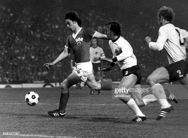 World Cup in Germany Juergen Sparwasser * Football player, East Germany First round, Group 1 in Hamburg: West Germany 0 - 1 East Germany - Sparwasser...