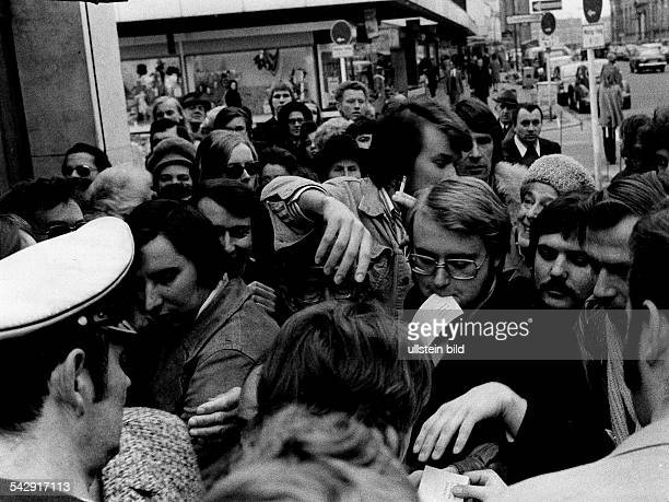 1974 FIFA World Cup in Germany People in Berlin are queuing up to buy 'coupons' with which tickets for the 1974 World Cup can be obtained