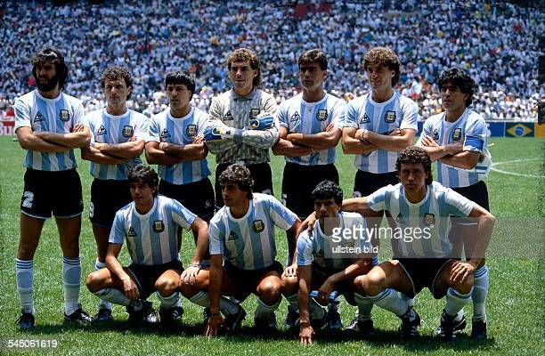 1986 FIFA World Cup in Mexico Argentina lineup before the final against Germany
