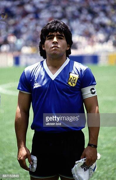 1986 FIFA World Cup in Mexico Armando Diego Maradona * Football player Argentina member of the national team Maradona as captain of the Argentine...