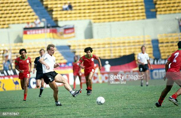 1986 FIFA World Cup in Mexico HansPeter Briegel * Football player Germany member of the national team Briegel in action during the Round of 16 match...