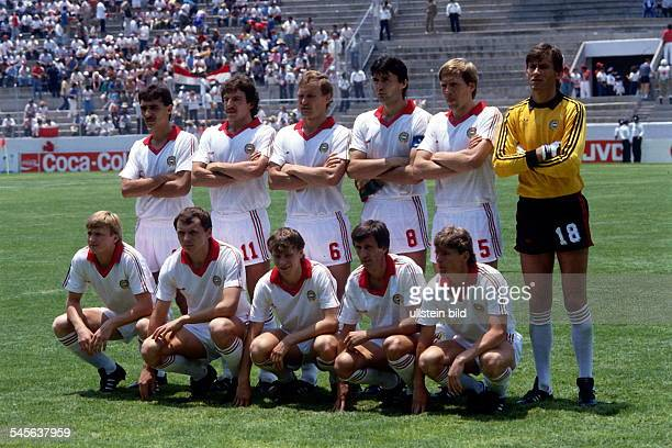 1986 FIFA World Cup in Mexico Hungary lineup before the first round match against Canada