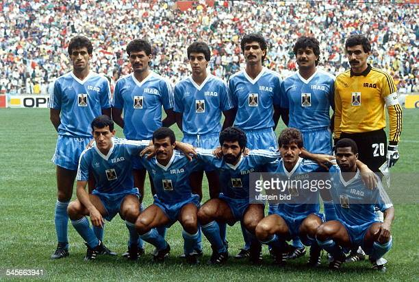 1986 FIFA World Cup in Mexico Iraq lineup before the first round match against Mexico