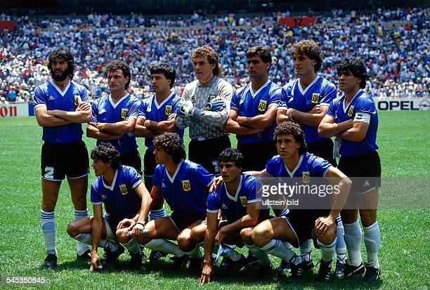 1986 FIFA World Cup in Mexico Lineup of the Argentine team before the quarterfinal against England