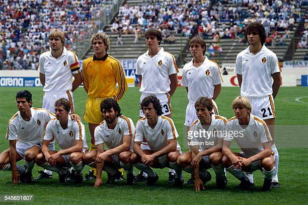 1986 FIFA World Cup in Mexico Lineup of the Belgian squad before the semifinal against Argentina