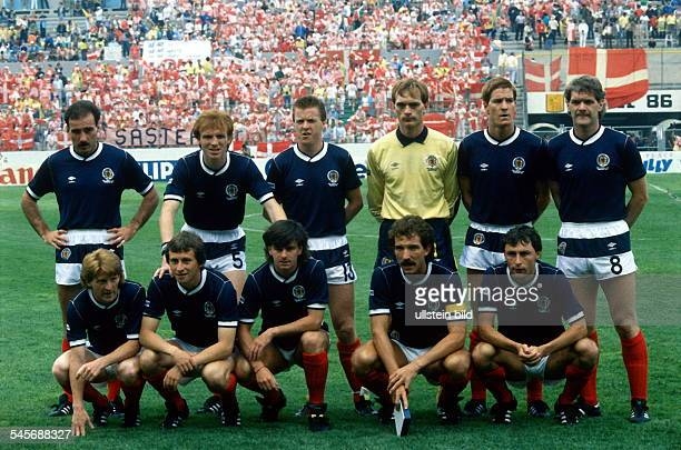 1986 FIFA World Cup in Mexico Lineup of the Scottish squad before a first round match against Uruguay