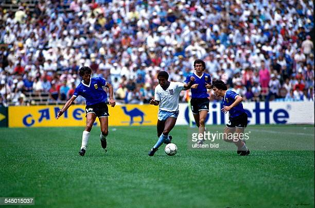 1986 FIFA World Cup in Mexico Quarterfinal Argentina 2 1 England Scene of the match England player Barnes amid Argentine players