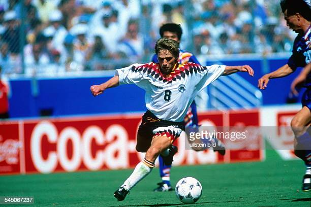 1994 FIFA World Cup in the USA First round Group C in Dallas Germany 3 2 South Korea Scene of the match Thomas Haessler in action