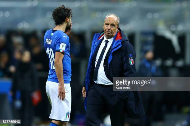 World Cup Qualifiers playoff Switzerland v Northern Ireland The disappointment of Italy coach Giampiero Ventura at San Siro Stadium in Milan Italy on...