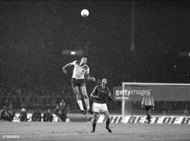 World Cup Qualifying match at Wembley Stadium England defeated Hungary by 1 goal to 0 to qualify for the 1982 tournament in Spain England defender...