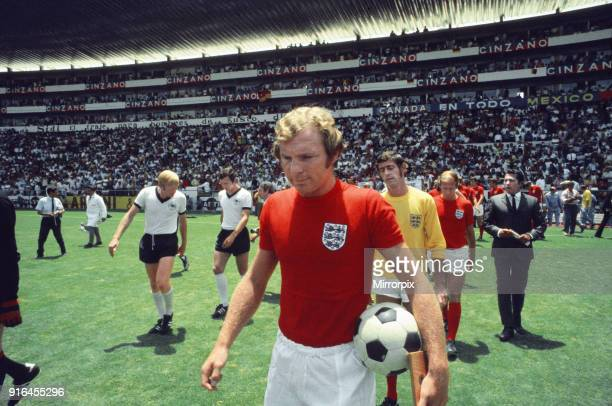 World Cup Quarter Final 1970 England 2 West Germany 3 after extra time Estadio Nou Camp Len Bobby Moore leads the England team out ready for kick off...