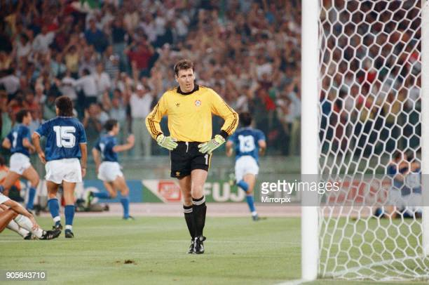 World Cup Quarter Final at the Stadio Olimpico in Rome Italy Republic of Ireland 0 v Italy 1 The only goal of the matched scored by Salvatore...