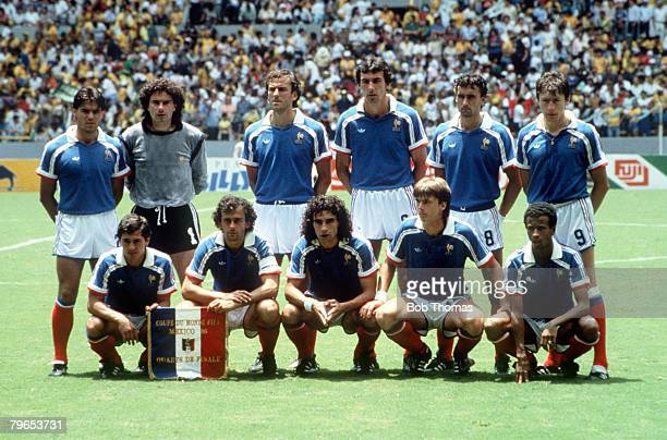 World Cup Quarter Final Guadalajara Mexico 21st June France 1 v Brazil 1 France pose for a team group before the match