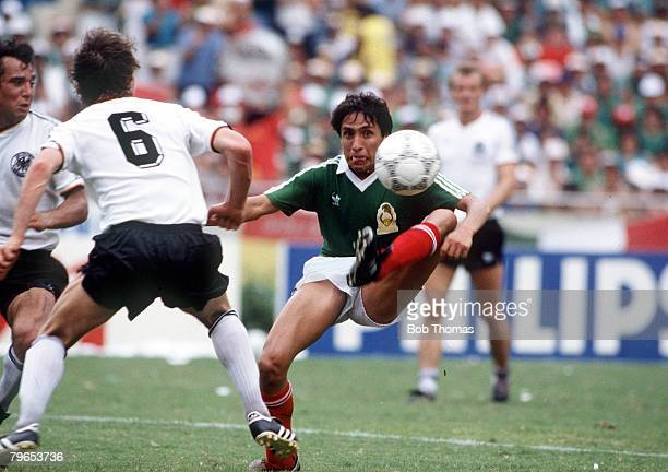 World Cup Quarter Final Monterrey Mexico 21st June West Germany 0 v Mexico 0 Mexico's Manel Negrete