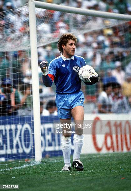 World Cup Quarter Final Monterrey Mexico 21st June West Germany 0 v Mexico 0 West Germany's goalkeeper Harald Schumacher
