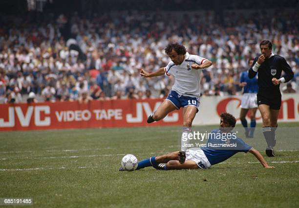 World Cup round of 16 France vs Italy France won 20 Michel Platini and Alessandro Altobelli