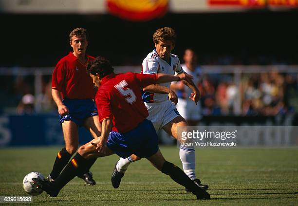 World Cup round of 16 Spain vs Yugoslavia Yugoslavia won 21 Sanchis and Safet Susic