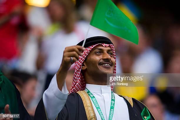 World Cup Saudi Arabien Ukraine Fans from Saudi Arabia