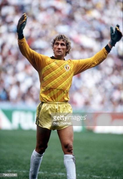 World Cup Semi Final Azteca Stadium Mexico 25th June Argentina 2 v Belgium 0 Belgium's goalkeeper Jean Marie Pfaff