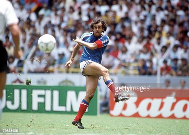 World Cup Semi Final, Guadalajara, Mexico, 25th June West Germany 2 v France 0, France's Michel Platini