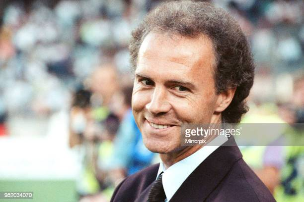 World Cup Semi Final match the Stadio delle Alpi in Turin Italy West Germany 1 v England 1 West German manager Franz Beckenbauer 4th July 1990