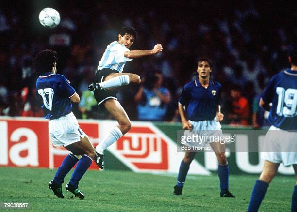 World Cup Semi Final Naples Italy 3rd July Argentina 1 v Italy 1 Argentina's Jorge Burruchaga battles for the ball with Italy's Roberto Donadoni