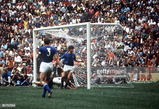 World Cup SemiFinal Mexico City Mexico 17th June Italy 4 v West Germany 3 West German striker Gerd Muller scores his team's third goal past Italian...
