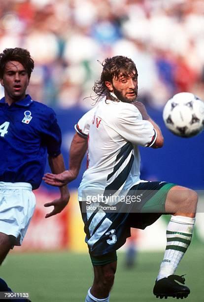 World Cup SemiFinal New Jersey USA 13th July Italy 2 v Bulgaria 1 Bulgaria's Trifon Ivanov gets away from Italy's Alessandro Costacurta