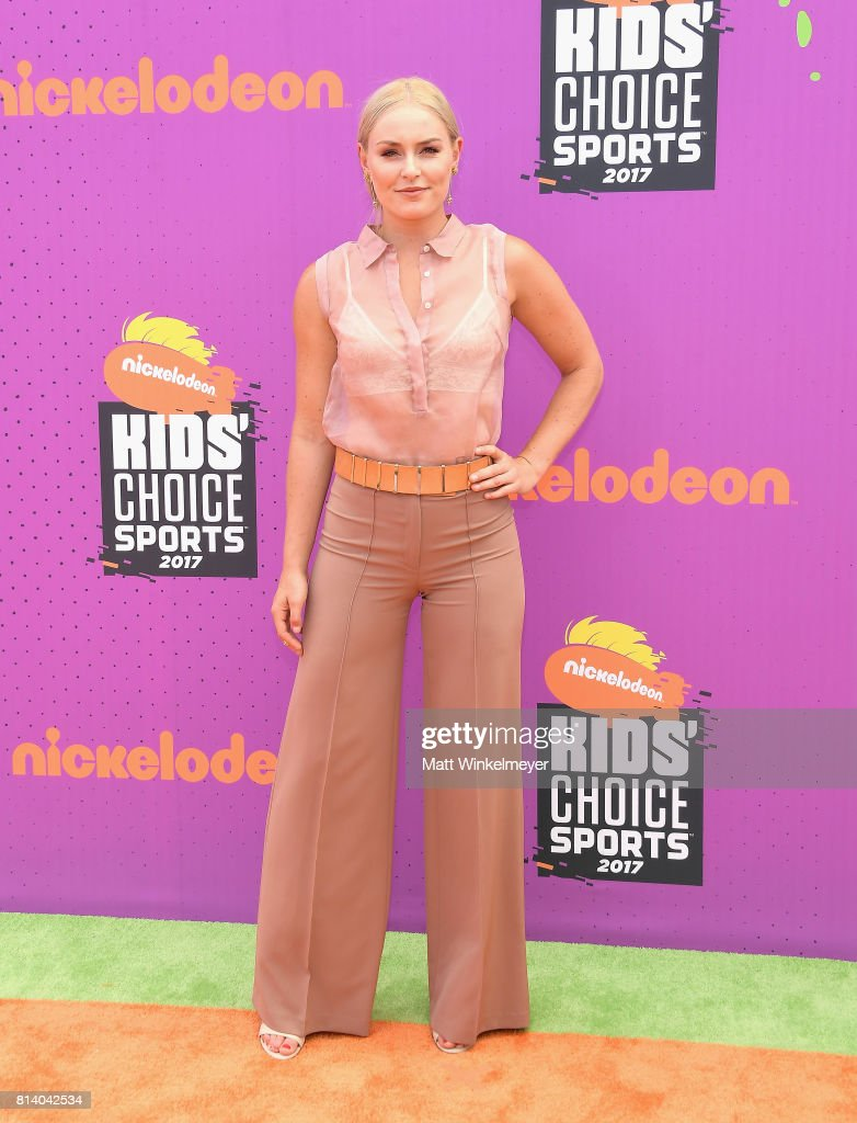 World Cup skiier Lindsey Vonn attends Nickelodeon Kids' Choice Sports Awards 2017 at Pauley Pavilion on July 13, 2017 in Los Angeles, California.
