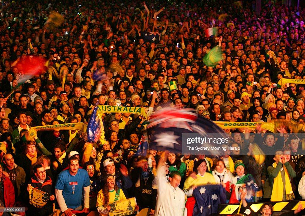 Image result for australia 2006 sydney streets world cup