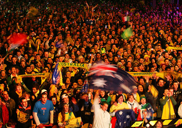 Image result for australia 2006 sydney streets world cup