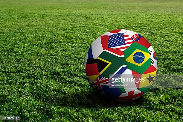world cup soccer ball - world cup stock photos and pictures