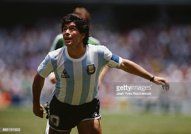 World Cup Soccer Final. Argentina vs Germany. Argentina won 3-2. Diego Maradona .